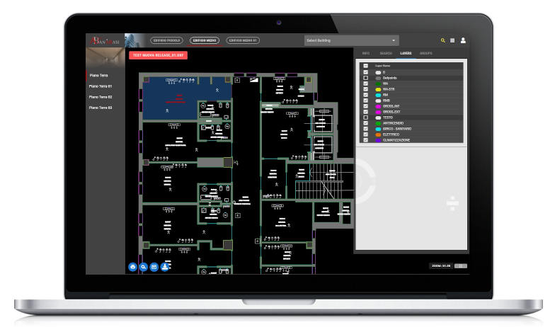 Piattaforma di Facility Management, Viewer CAD Web